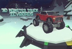 Игра 3D Monster Truck: Icy Roads