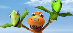 играть в мини игры - Динозавры игры с поездами