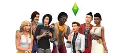 flash игры Симс с друзьями