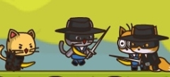 поиграть в игры онлайн - игры Ударный отряд котят