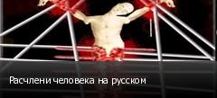 Расчлени человека на русском
