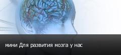 мини Для развития мозга у нас