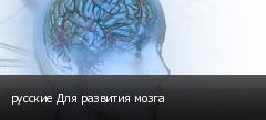 русские Для развития мозга