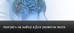 поиграть на выбор в Для развития мозга