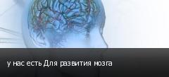 у нас есть Для развития мозга