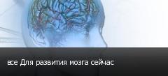 все Для развития мозга сейчас