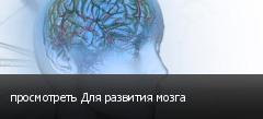 просмотреть Для развития мозга