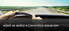 играй на выбор в Симулятор вождения