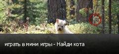 играть в мини игры - Найди кота