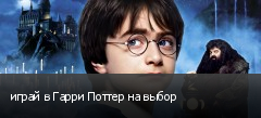 играй в Гарри Поттер на выбор
