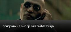 поиграть на выбор в игры Матрица
