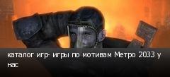 каталог игр- игры по мотивам Метро 2033 у нас