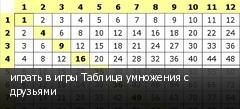 играть в игры Таблица умножения с друзьями