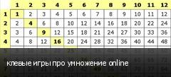 клевые игры про умножение online