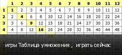 игры Таблица умножения ,  играть сейчас