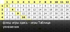 флеш игры здесь - игры Таблица умножения