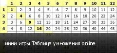 мини игры Таблица умножения online