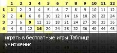 играть в бесплатные игры Таблица умножения