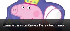 флеш игры, игры Свинка Пепа - бесплатно