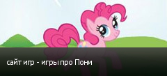 сайт игр - игры про Пони