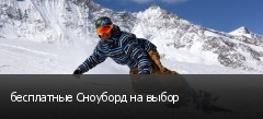 бесплатные Сноуборд на выбор