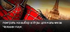 поиграть на выбор в Игры для мальчиков Человек-паук