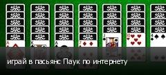 играй в пасьянс Паук по интернету
