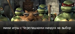 мини игры с Черепашками ниндзя на выбор
