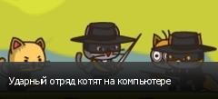 Ударный отряд котят на компьютере