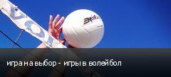 игра на выбор - игры в волейбол