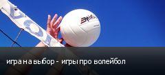 игра на выбор - игры про волейбол