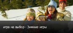 игра на выбор - Зимние игры