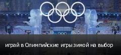 играй в Олимпийские игры зимой на выбор