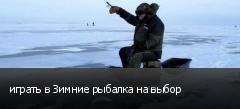 играть в Зимние рыбалка на выбор